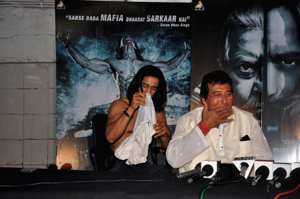 Actors Vipinno, Vinod Khanna during the press conference of the film Koyelaanchal in Mumbai on  May 06, 2014 - Vipinno and Vinod Khanna