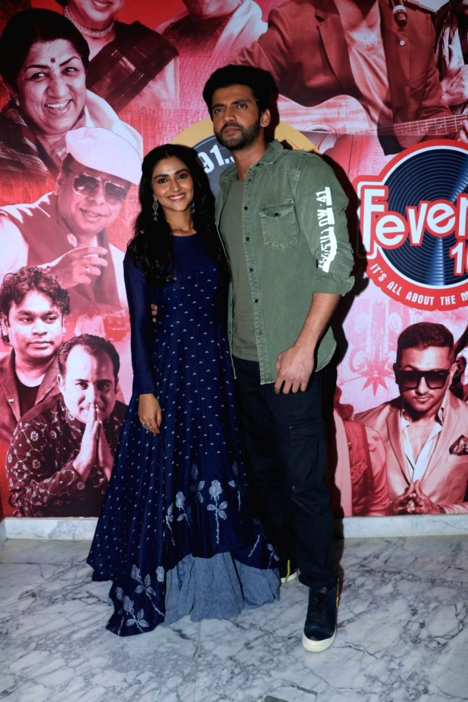 "Actors Zaheer Iqbal and Pranutan at the promotion of their upcoming film ""Notebook"" in Mumbai, on March 7, 2019. - Zaheer Iqbal and Pranutan"