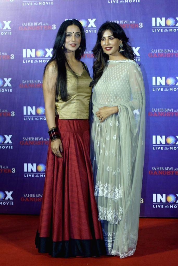 "Actreses Mahie Gill and Chitrangada Singh at the promotion of their upcoming film ""Saheb Biwi Aur Gangster 3"" in Mumbai on July 23, 2018. - Chitrangada Singh"