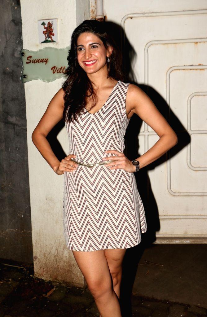 "Actress Aahana Kumra during the special screening of film ""Ajji"" in Mumbai on Oct 9, 2017. - Aahana Kumra"