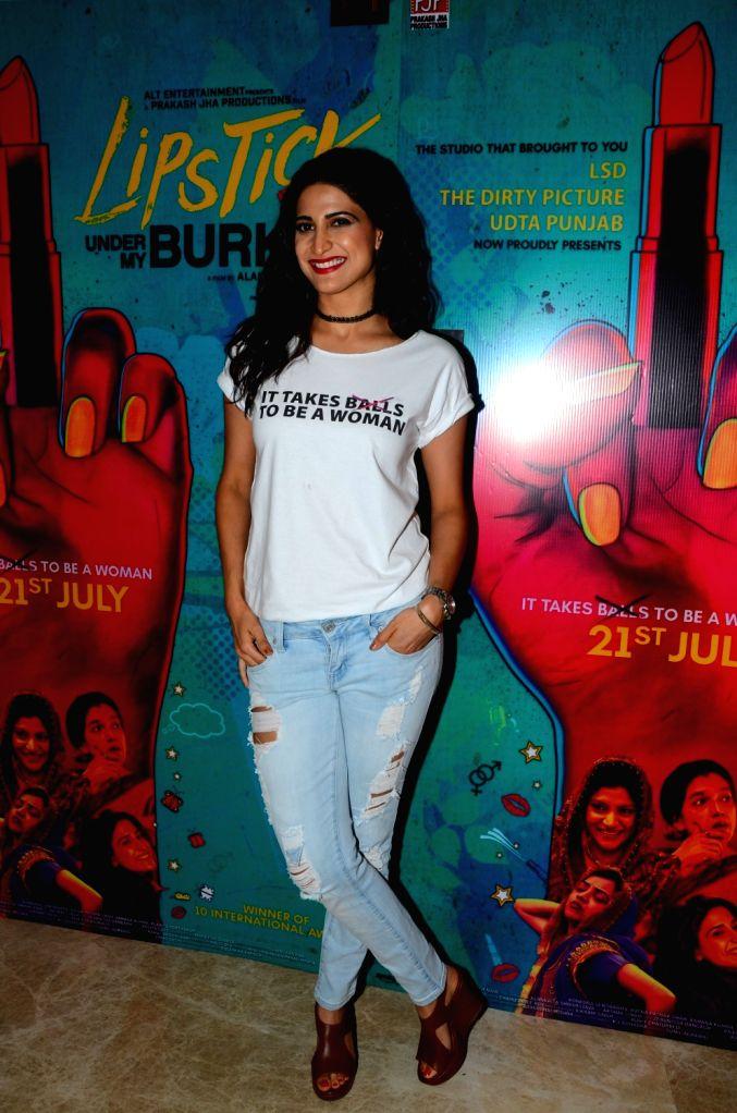 Actress Aahana Kumra during the trailer launch of film Lipstick Under My Burkha, in Mumbai on June 27, 2017. - Aahana Kumra