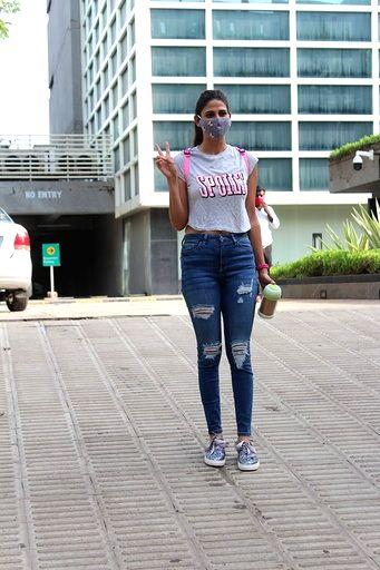 Actress Aahana Kumra seen at a dubbing studio in Mumbai's Andheri on July 10, 2020. - Aahana Kumra