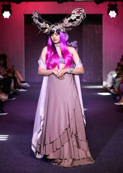 Actress Adah Sharma at the Lakme Fashion Week Winter/Festive 2019 in Mumbai on Aug 24, 2019. - Adah Sharma