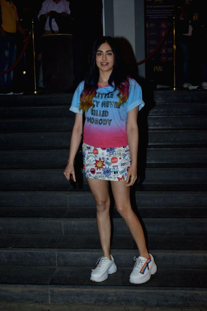 "Actress Adah Sharma at the special screening of the film ""Bypass Road"" in Mumbai on Nov 8, 2019. - Adah Sharma"