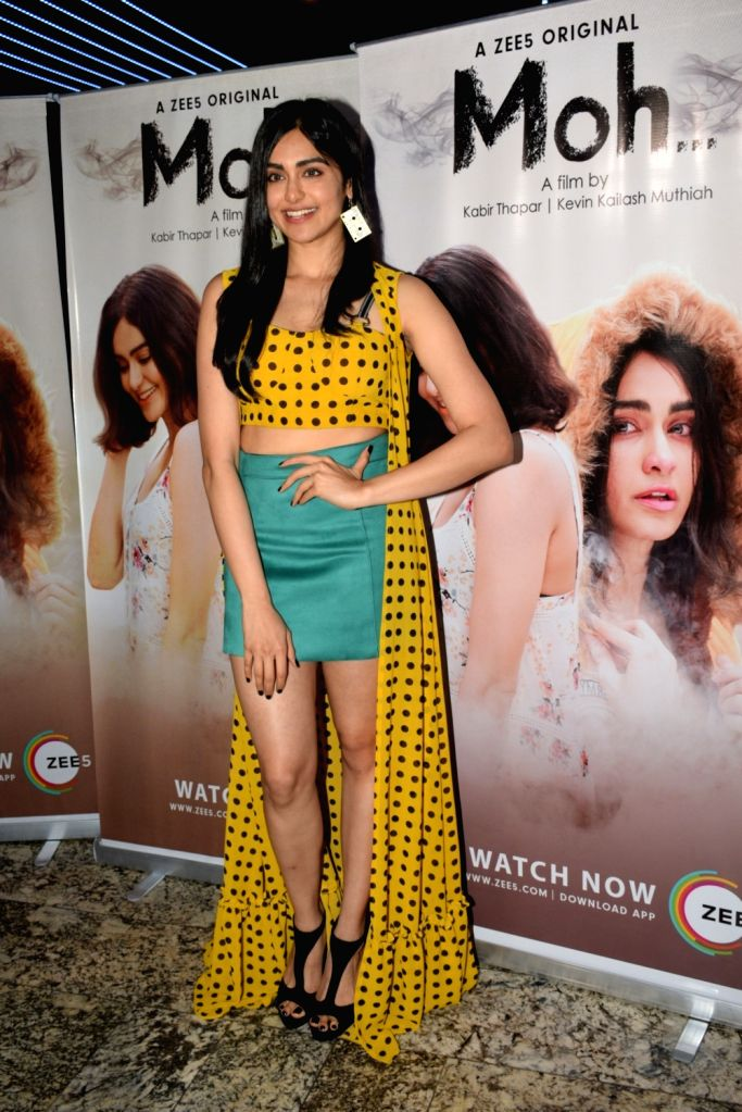 "Actress Adah Sharma during a media interaction of her upcoming film ""Moh"", in Mumbai, on April 9, 2019. - Adah Sharma"