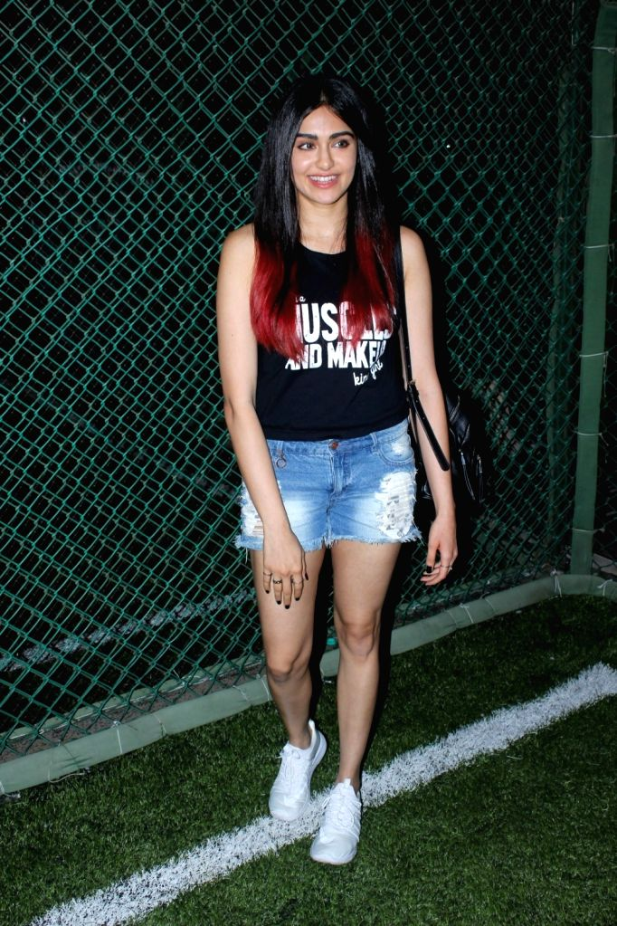 Actress Adah Sharma during the launch of second edition of Super Soccer Tournament (SST) in Mumbai on May 28, 2017. - Adah Sharma