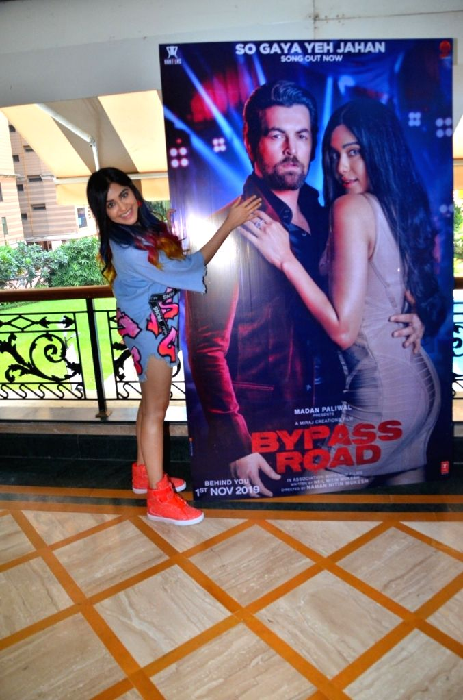 """Actress Adah Sharma during the promotions of her upcoming film """"Bypass Road"""" in Mumbai on Oct 15, 2019. - Adah Sharma"""