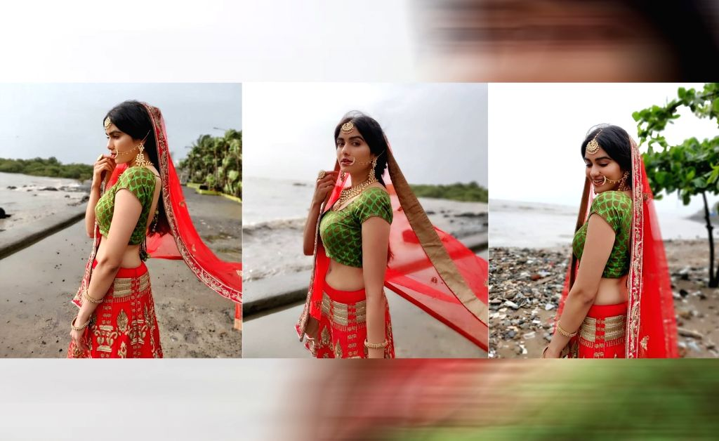 """Actress Adah Sharma is all decked up in traditional attire and looking for a groom. But it's not a tall, dark and handsome man that she is looking for. Her demands include a man who """"should be willing to cook 3 times a day with a smiling face and sha - Adah Sharma"""