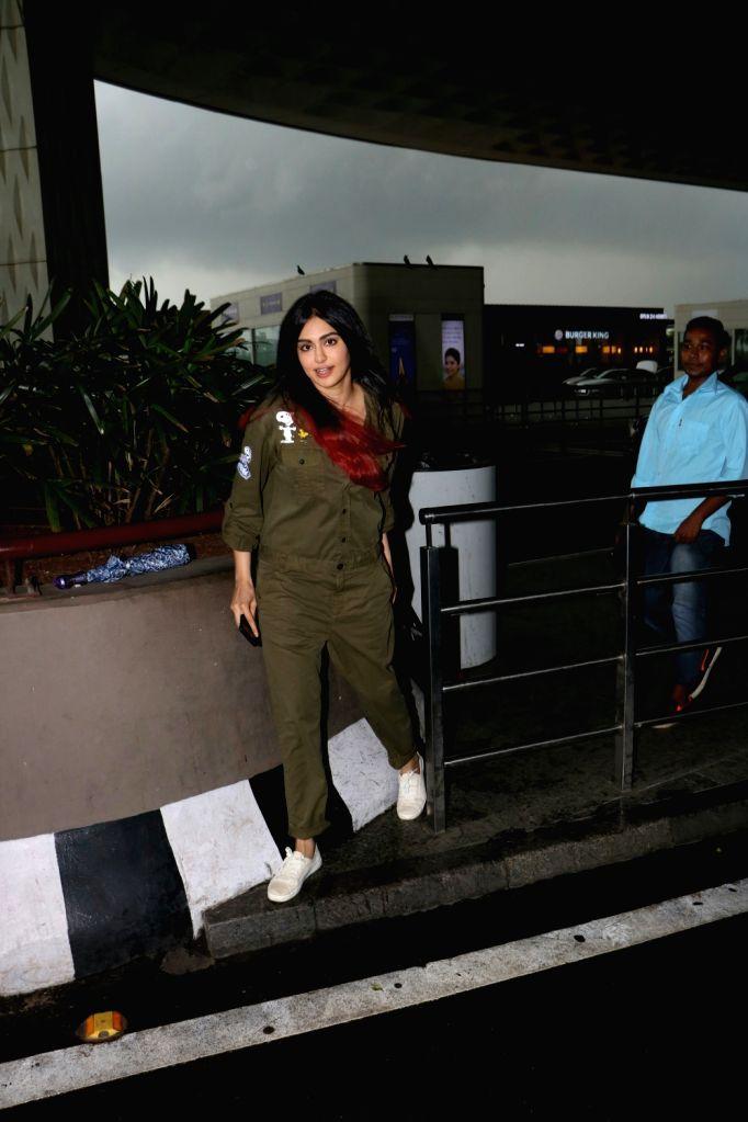 Actress Adah Sharma spotted at airport in Mumbai, on Aug 19, 2017. - Adah Sharma