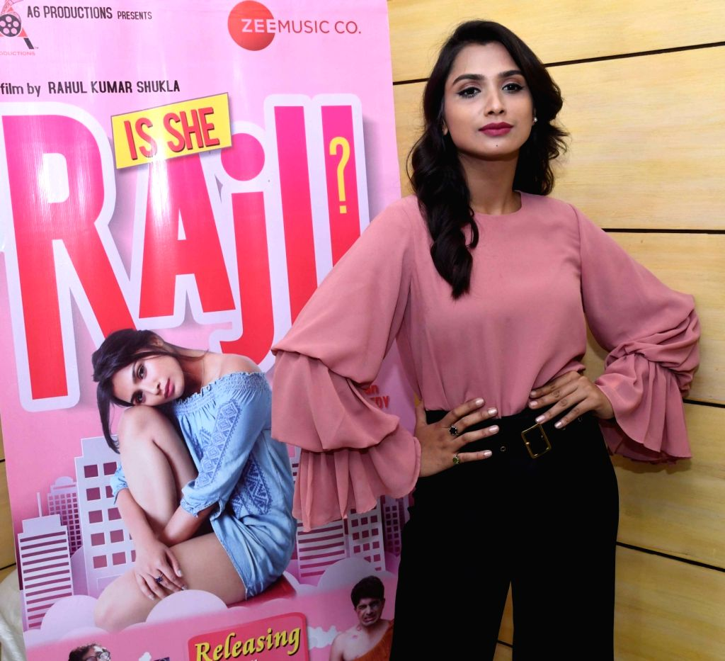 "Actress Aditi Bhagat during the promotion of her upcoming film ""Is she Raju?"" in Patna, on March 5, 2019. - Aditi Bhagat"