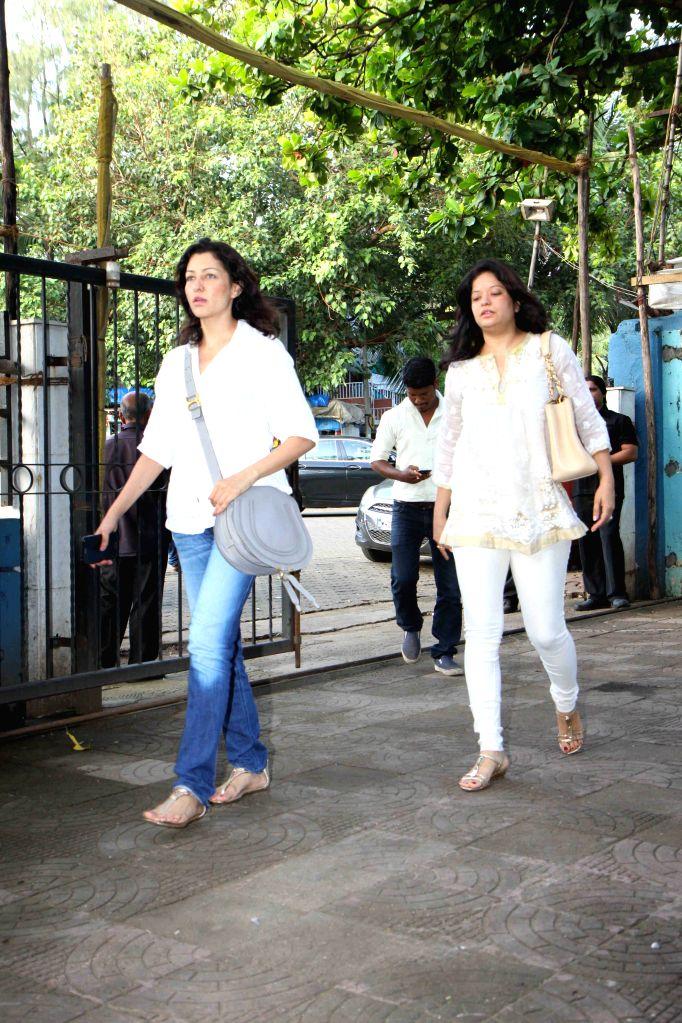 Actress Aditi Gowitrikar during the prayer meet of Pandit Pandharinath Kolhapure, in Mumbai, on Aug 18, 2015. Pandit Pandharinath, who expired on August 15, 2015, is the father of actor ... - Aditi Gowitrikar, Shraddha Kapoor and Shivangi Kapoor