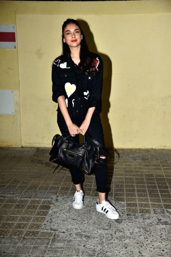 "Actress Aditi Rao during the Screening of film ""photograph"" in Mumbai, on March 13, 2019. - Aditi Rao"