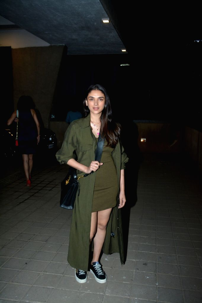 Actress Aditi Rao Hydari at a party hosted by director Punit Malhotra on Valentine's Day in Mumbai, on Feb 14, 2019. - Aditi Rao Hydari and Punit Malhotra