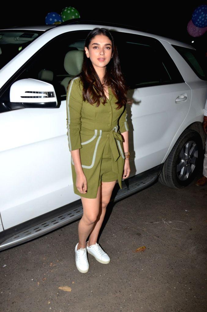 Actress Aditi Rao Hydari at celebrity trainer Namrata Purohit's song launch in Mumbai, on Feb 19, 2019. - Aditi Rao Hydari
