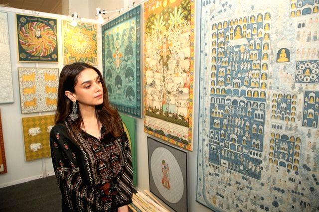 Actress Aditi Rao Hydari at the India Art Festival 2020. - Aditi Rao Hydari