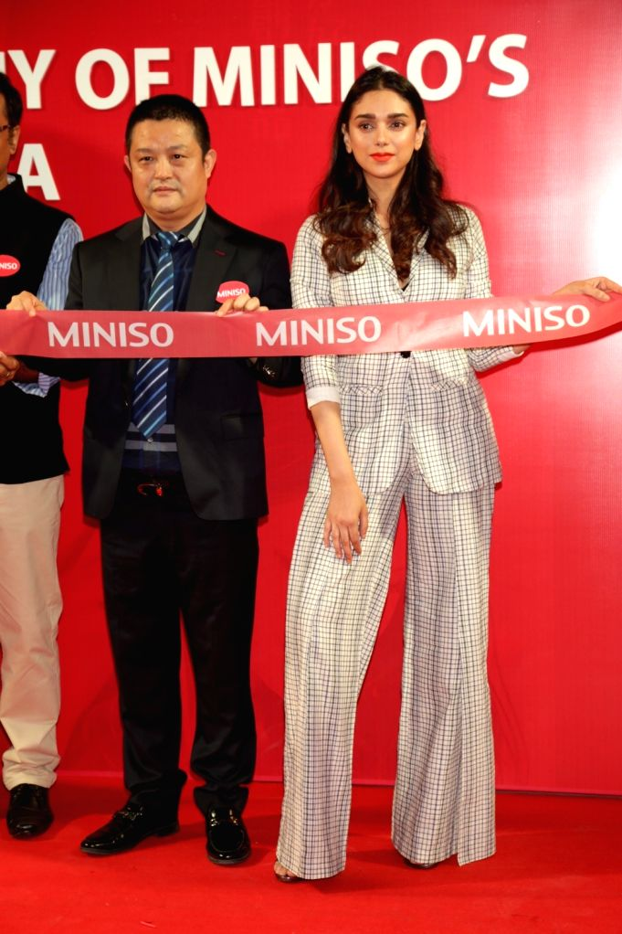 Actress Aditi Rao Hydari at the Japanese fashion brand Miniso's store launch in New Delhi on Aug 18, 2017. - Aditi Rao Hydari