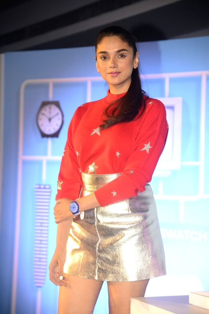 Actress Aditi Rao Hydari at the launch of watch collection in Mumbai on Dec 5, 2017. - Aditi Rao Hydari