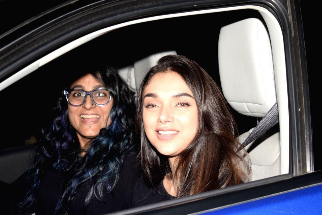 "Actress Aditi Rao Hydari at the screening of film ""Gully Boy"" in Mumbai, on Feb 15, 2019. - Aditi Rao Hydari"