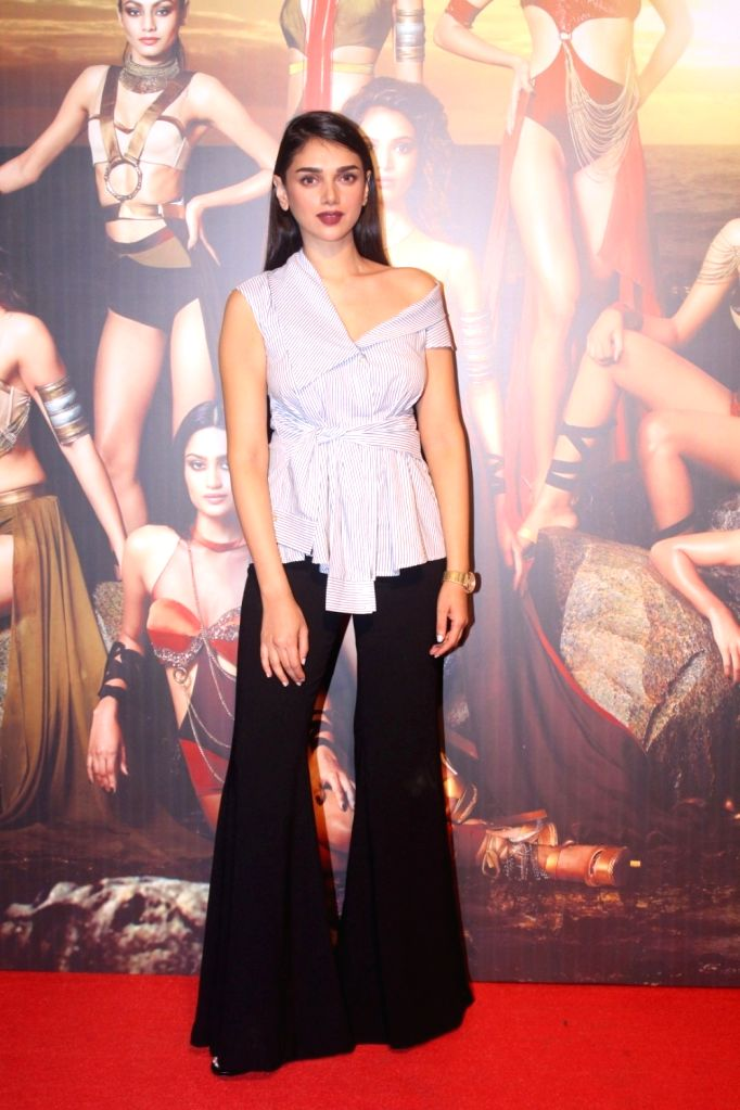 "Actress Aditi Rao Hydari at the Star Studded Red Carpet of ""Miss Diva 2017"" in Mumbai on Sept 18, 2017. - Aditi Rao Hydari"