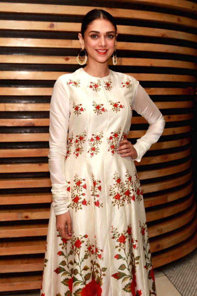 Actress Aditi Rao Hydari during a press conference to promote their upcoming film `Wazir`, in New Delhi, on Jan 5 ,2016. - Aditi Rao Hydari