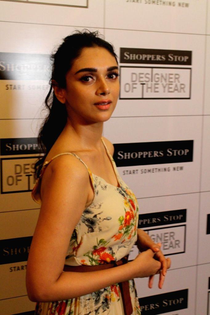 Actress Aditi Rao Hydari during the announcement of the Designer of the Year 2017 by Shopper Stop in Mumbai on May 24, 2017. - Aditi Rao Hydari