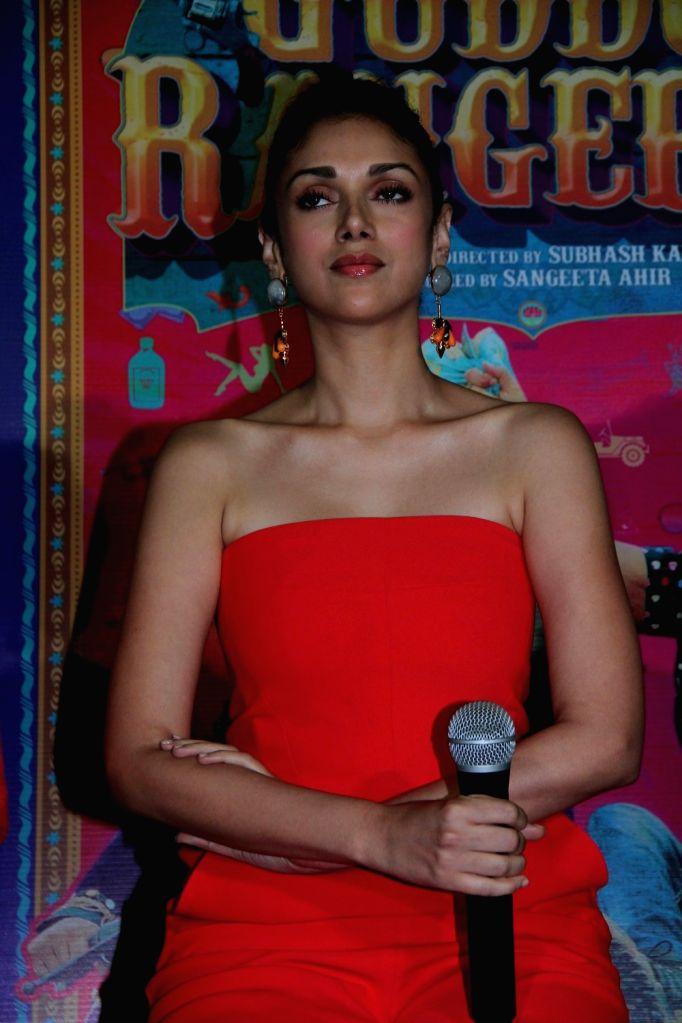 Actress Aditi Rao Hydari during the promotion of film Guddu Rangeela at the launch of Carnival Cinemas new multiplex in Mumbai on July 2, 2015. - Aditi Rao Hydari