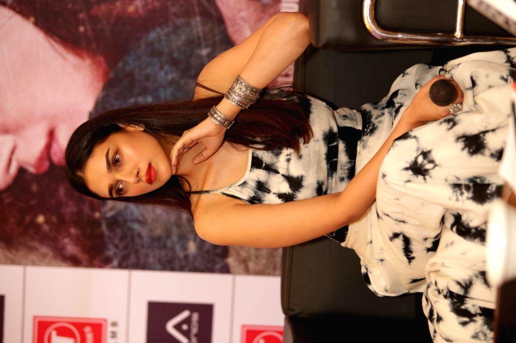 "Actress Aditi Rao Hydari during the promotion of her upcoming film ""Bhoomi"" in New Delhi on Sept 16, 2017. - Aditi Rao Hydari"