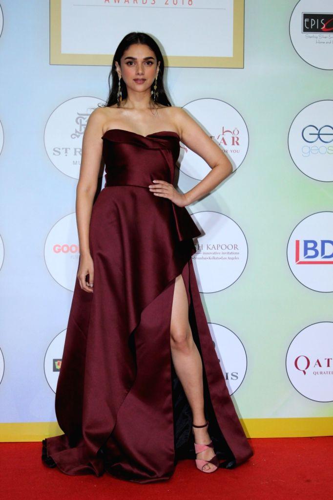 Actress Aditi Rao Hydari on the red carpet of the GeoSpa Awards 2019, in Mumbai, on April 24, 2019. - Aditi Rao Hydari