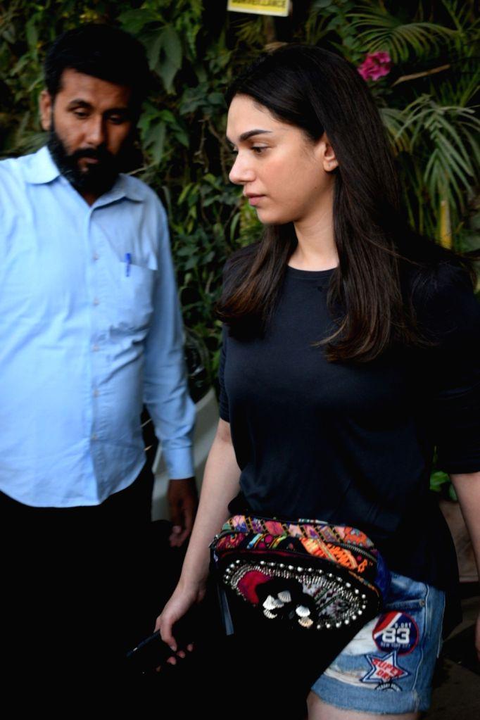 Actress Aditi Rao Hydari seen at a health club in Mumbai, on May 15, 2019. - Aditi Rao Hydari