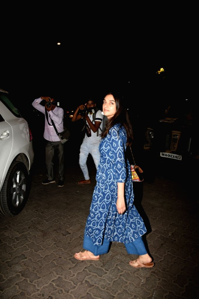 Actress Aditi Rao Hydari seen at Bandra, in Mumbai, on June 1, 2019. - Aditi Rao Hydari