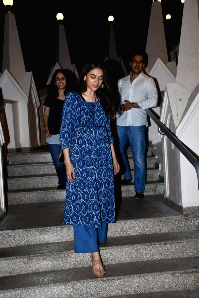 Actress Aditi Rao Hydari seen at Bandra, in Mumbai, on June 1, 2019. - Aditi Rao Hydari