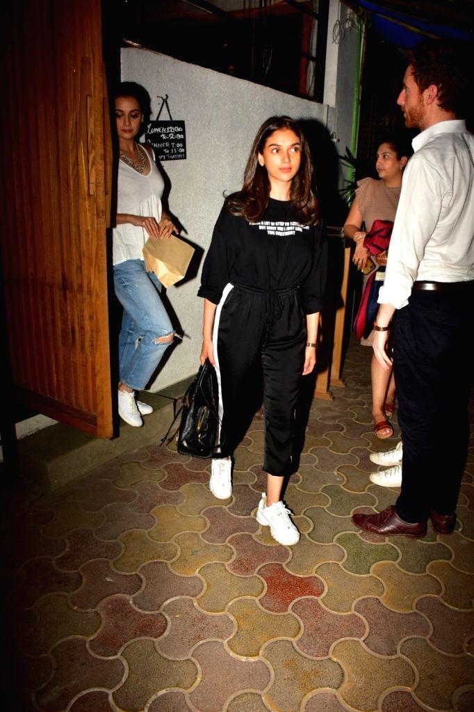 Actress Aditi Rao Hydari seen at Bandra in Mumbai on Oct 16, 2019. - Aditi Rao Hydari