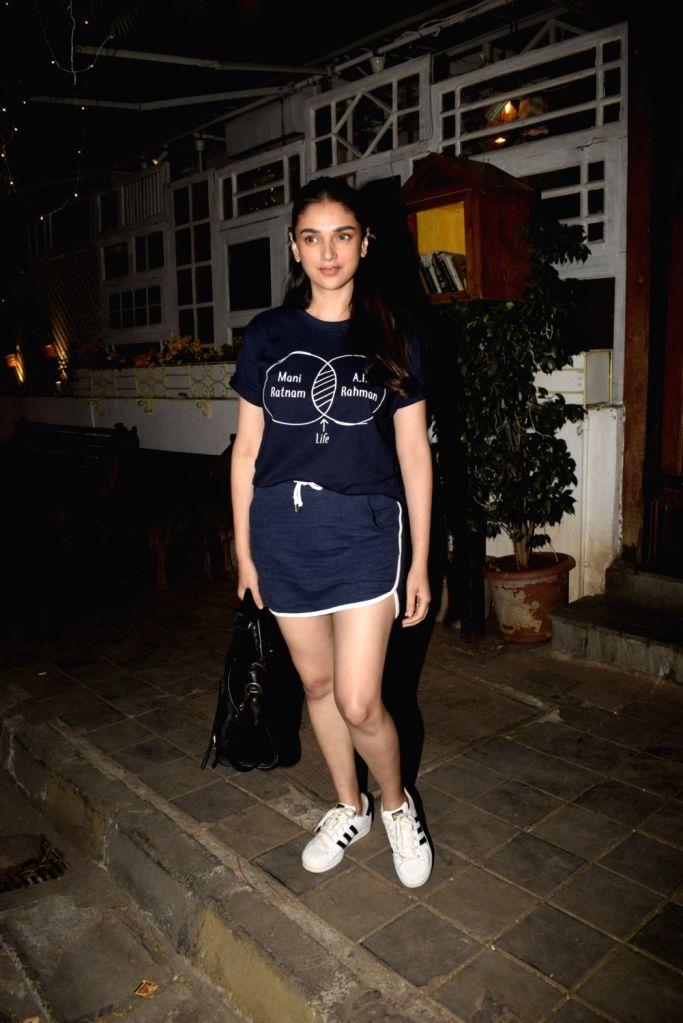Actress Aditi Rao Hydari seen in Mumbai's Juhu, on March 14, 2019. - Aditi Rao Hydari