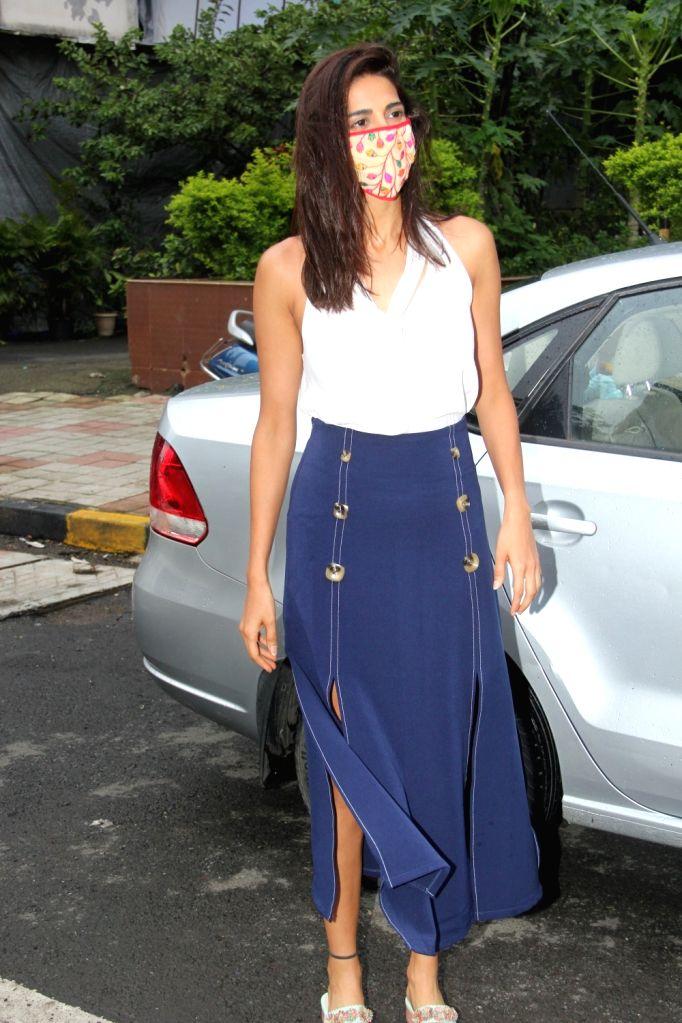 Actress Ahana Kumra seen at a salon in Mumbai's Bandra on July 30, 2020. - Ahana Kumra