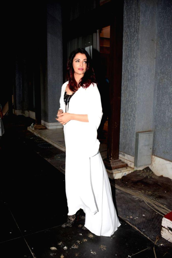 "Actress Aishwarya Rai Bachchan during a media interaction to promote her upcoming film ""Fanney Khan"" in Mumbai on July 31, 2018. - Aishwarya Rai Bachchan and Fanney Khan"