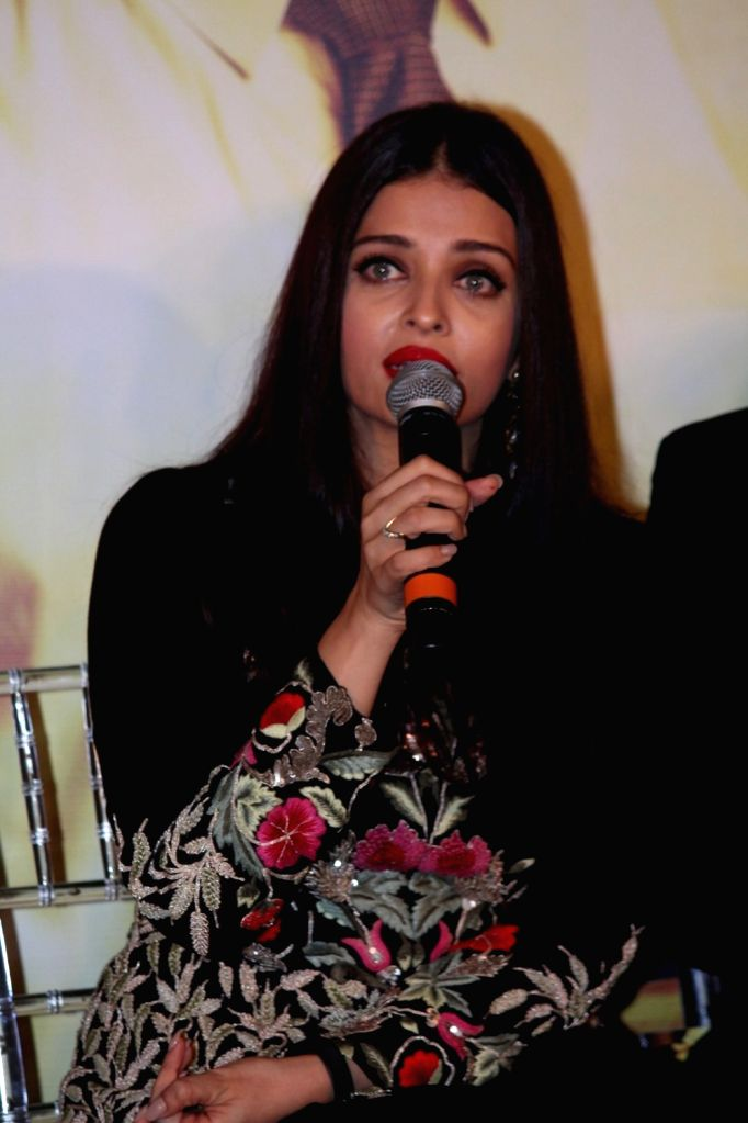 Actress Aishwarya Rai during the music launch of marathi film Hrudayantar in Mumbai, on June 10 2017. - Aishwarya Rai