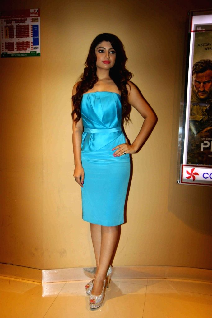 Actress Akanksha Puri during the trailer launch of film Calendar Girls in Mumbai, on Aug 18, 2015. - Akanksha Puri