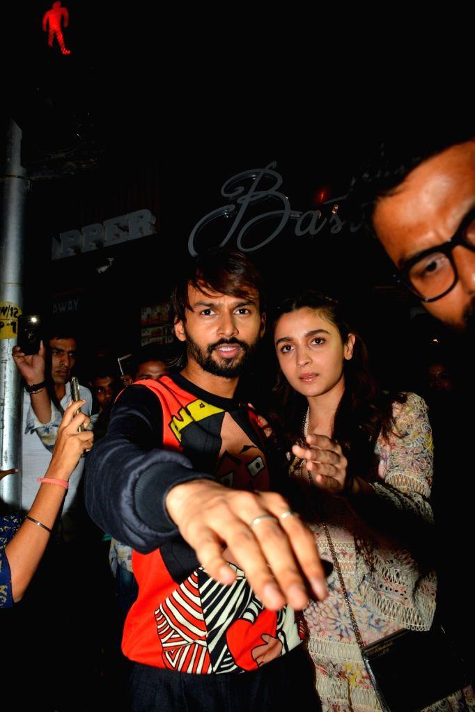 Actress Alia Bhatt at Akansha Ranjan's birthday celebration in Mumbai on Sept 18, 2018. - Alia Bhatt