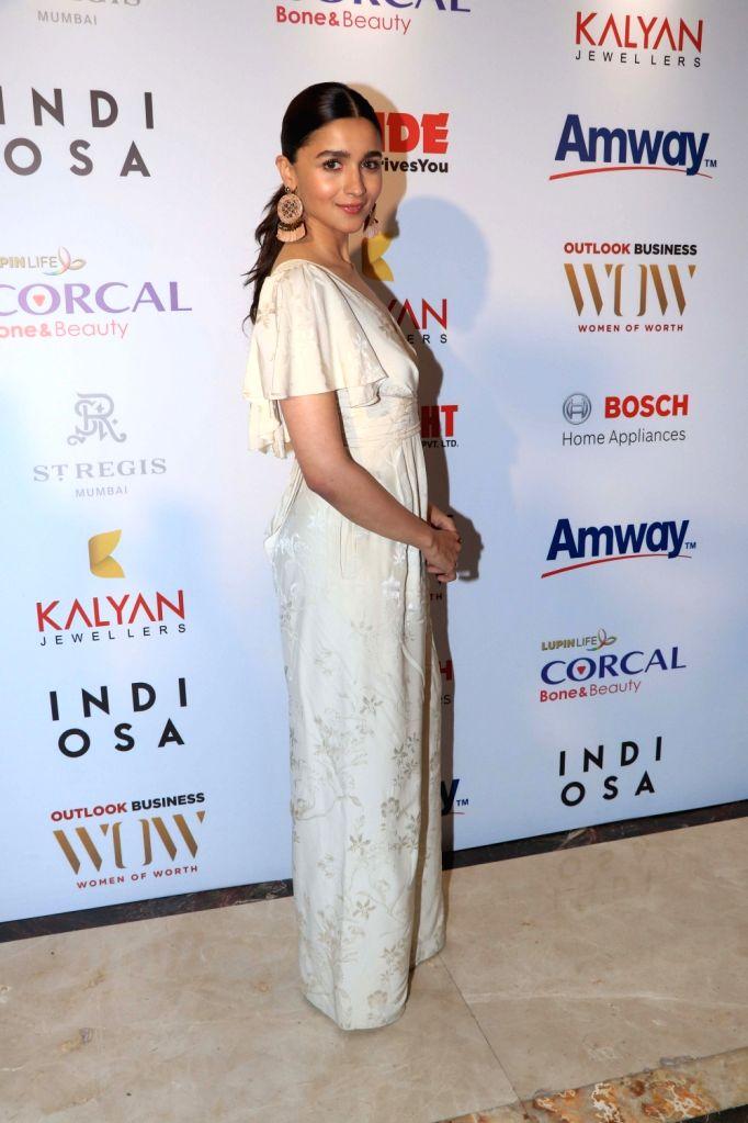 Actress Alia Bhatt at the fourth edition of Outlook Business magazine's 'Women of Worth' awards in Mumbai, on March 6, 2019. - Alia Bhatt