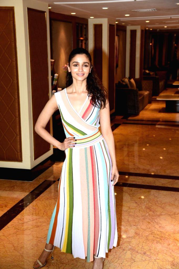"Actress Alia Bhatt at the promotional interview of her upcoming film ""Gully Boy"" in Mumbai, on Feb 5, 2019. - Alia Bhatt"