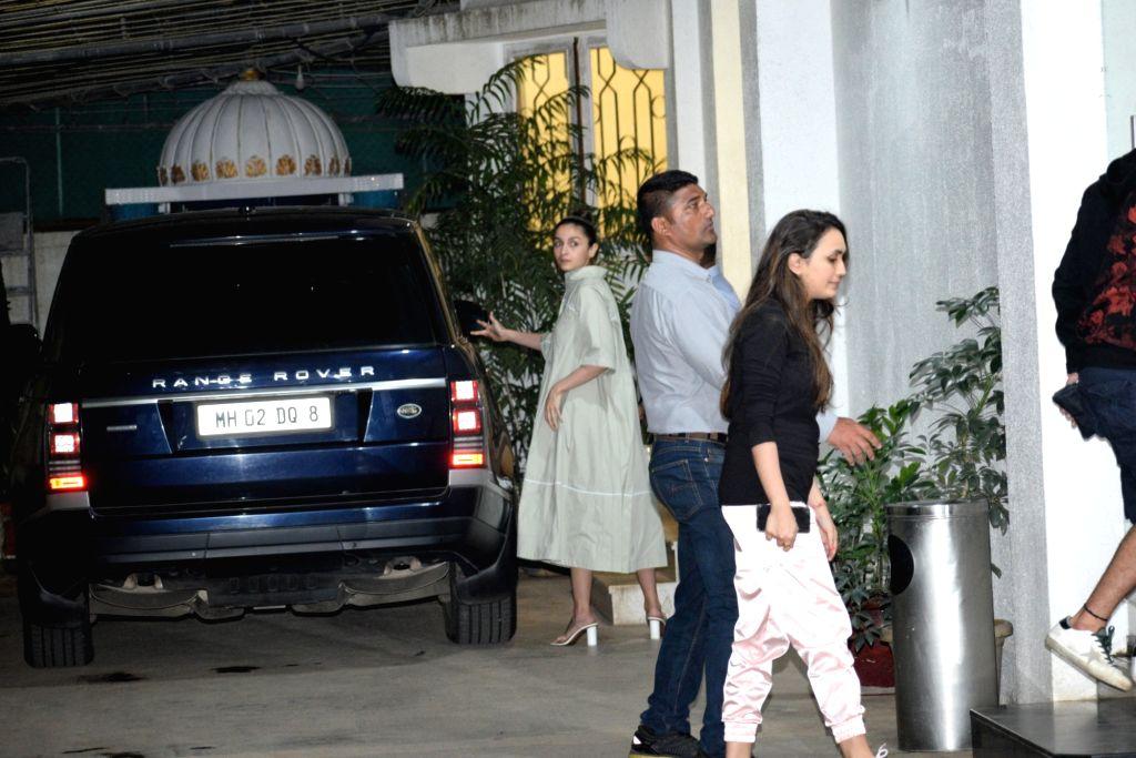 "Actress Alia Bhatt at the screening of recently released film ""Mission Mangal"" in Mumbai on Aug 25, 2019. - Alia Bhatt"