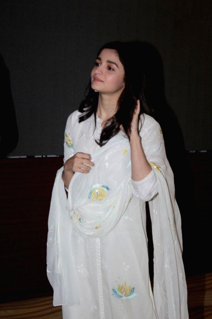 """Actress Alia Bhatt at the special screening of the film """"Raazi"""", in Mumbai on June 2, 2018. - Alia Bhatt"""