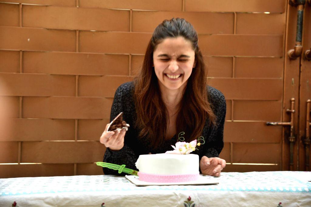 Actress Alia Bhatt celebrates her birthday in Mumbai, on March 15, 2019. - Alia Bhatt