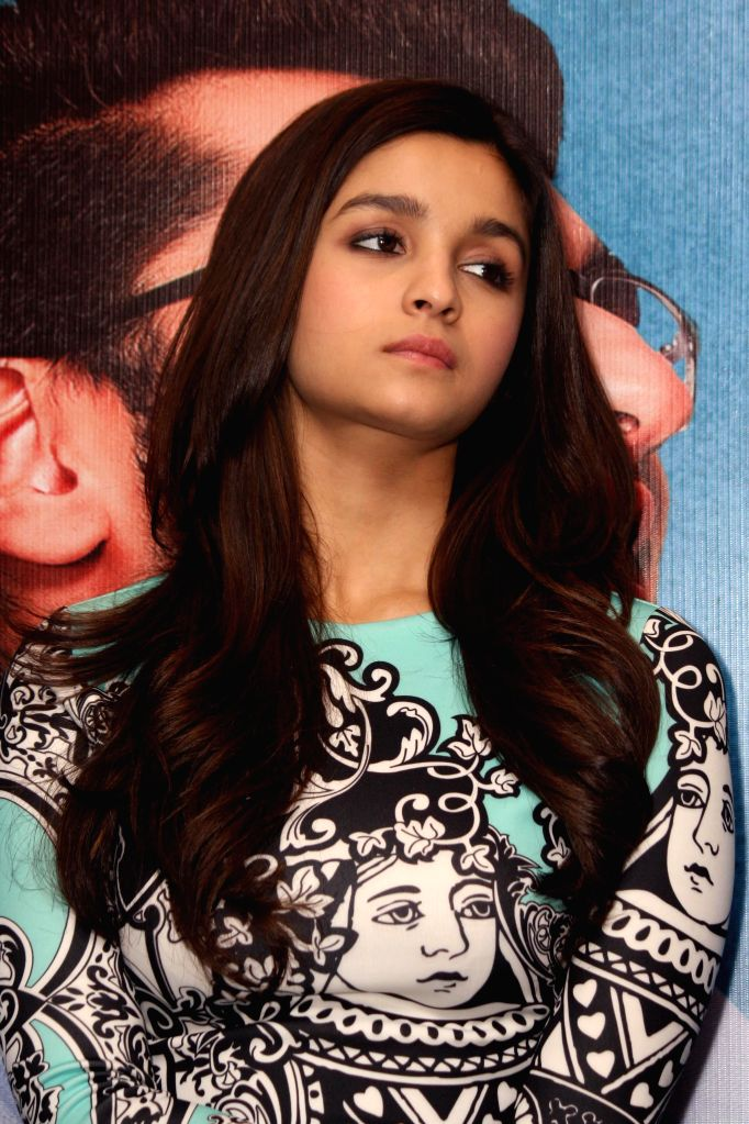 Actress Alia Bhatt during a press conference to promote her upcoming film '2 States' in New Delhi on April 16, 2014. - Alia Bhatt