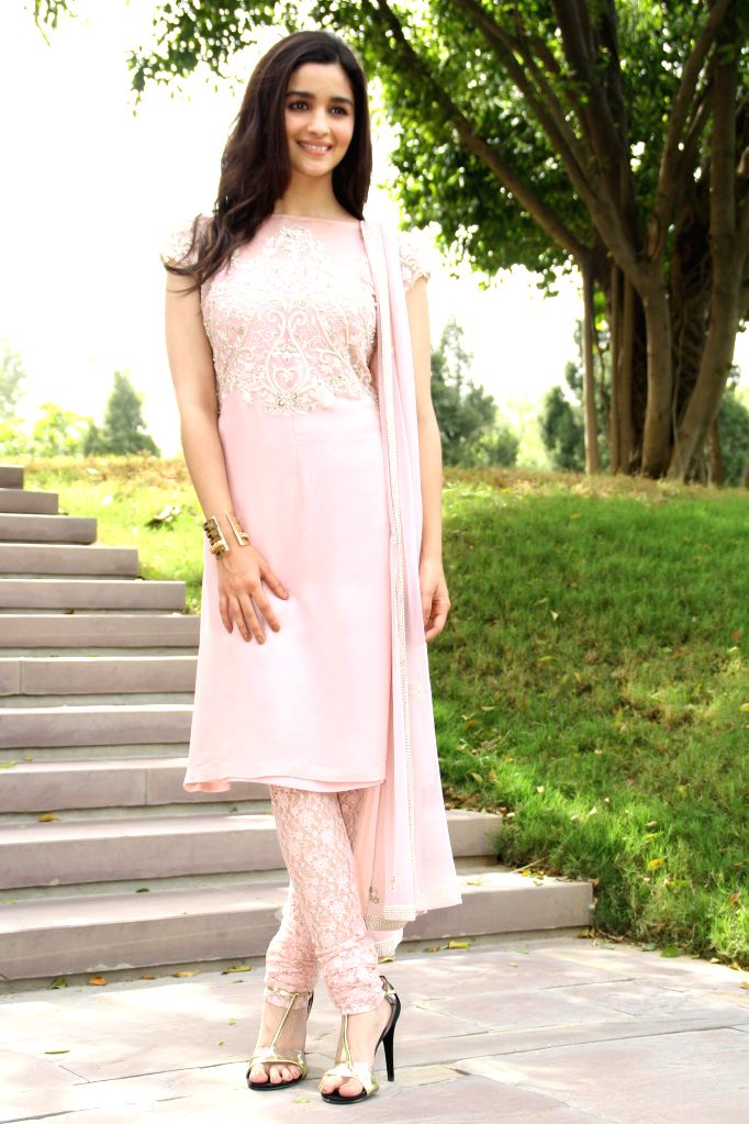Actress Alia Bhatt during a programme organised to promote her upcoming film `Humpty Sharma Ki Dulhania` in New Delhi on July 9, 2014. - Alia Bhatt