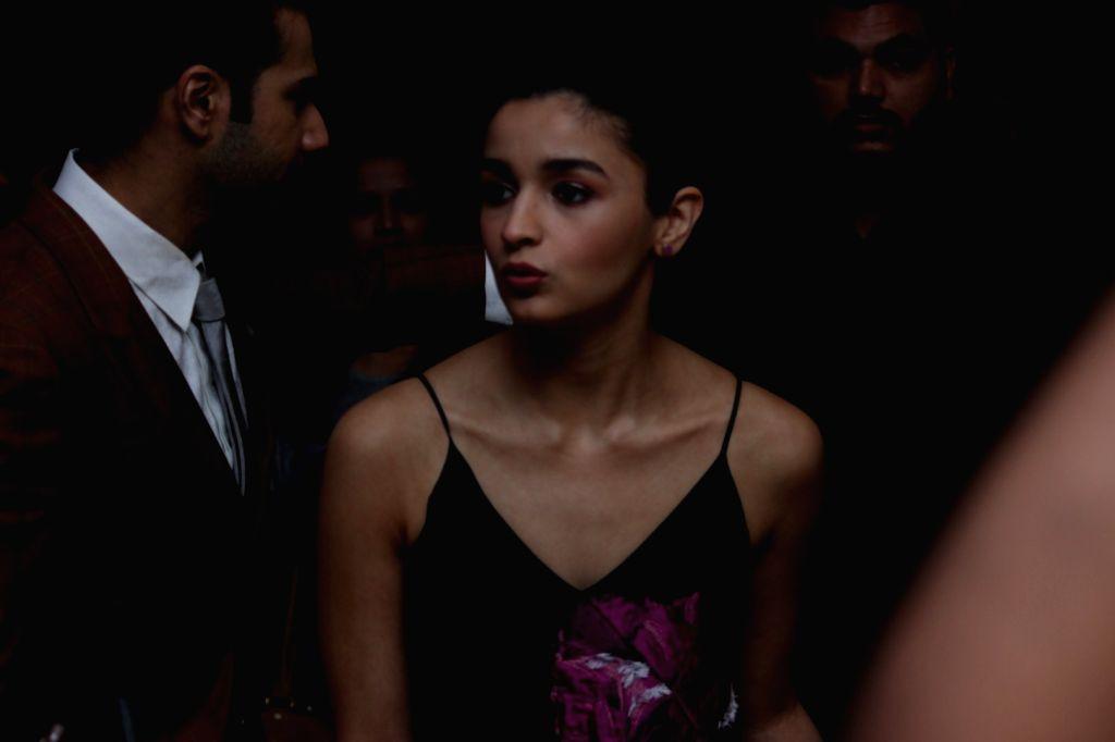 Actress Alia Bhatt during the press conference of Singapore Tourism Board to promote film Badrinath Ki Dulhania in Mumbai on Feb 27, 2017 - Alia Bhatt