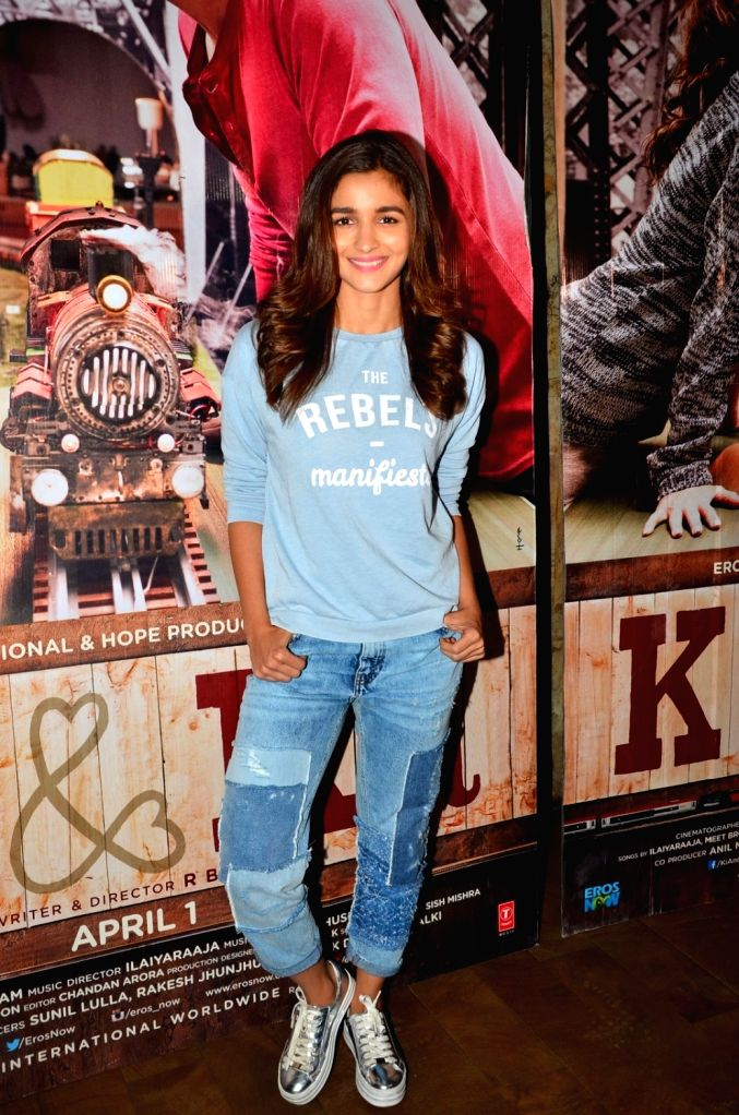 Actress Alia Bhatt during the screening of film Ki & Ka, in Mumbai, on March 29, 2016. - Alia Bhatt