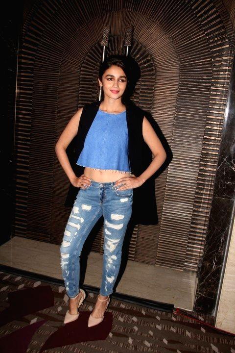 Actress Alia Bhatt during the trailer launch of film Wedding Pullav, in Mumbai, on Aug 17, 2015. - Alia Bhatt