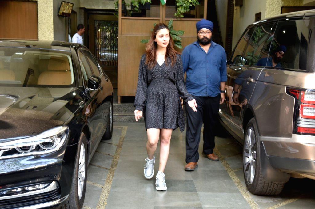 Actress Alia Bhatt on her birthday celebration in Mumbai, on March 15, 2019 - Alia Bhatt
