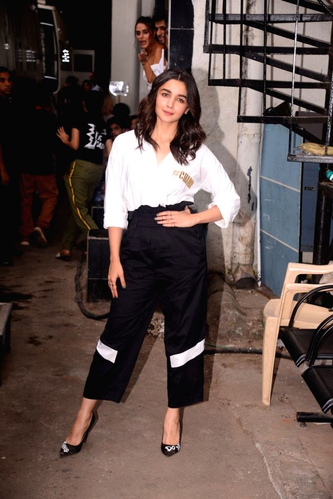 "Actress Alia Bhatt on the sets of television reality show ""Vogue BFFs"" season two in Mumbai on Dec 4, 2017. - Alia Bhatt"